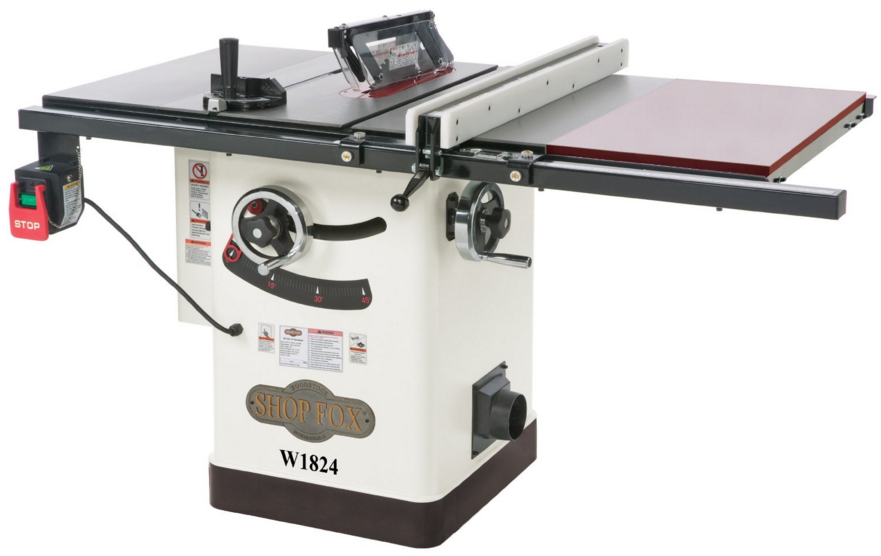 Shop Fox W1824 Hybrid Table Saw With Extension Table Review 2017 Table Saw Reviews
